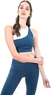 Satva Organic Cotton Workout Yoga Top Racerback Bra Yoga Sari Bra Top with Mesh