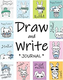 Draw and Write Journal for Kids: Easter Themed, Cute Bunnies (Journals for Boys)