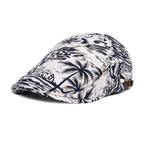 LETHMIK Cotton Flat Cap Gatsby Duckbill Hat Newsboy Ivy Irish Cabbie Scally  Cap 549a071faedf