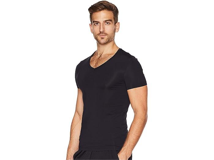 HANRO Mens Casuals Short Sleeve V-Neck Shirt