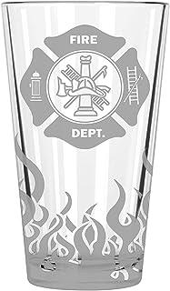 Fire Department, Beer growler, Fireman Gift, Fireman gifts, Firefighter gifts, Firefighter gifts, Flames, Beer stein, Beer...