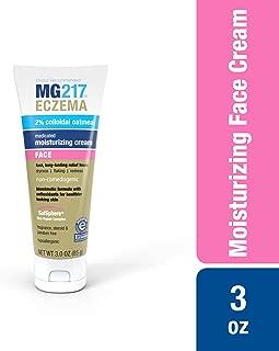 MG217 Eczema Face Moisturizing Cream with 2% Colloidal Oatmeal, 3 Ounce - Medicated for Eczema, Rash, and Dermatitis