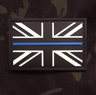 Thin Blue Line Union Jack Flag PVC Morale Patch