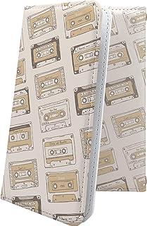 スマートフォンケース・Xperia J1 Compact D5788・互換 スマートフォンケース・手帳型 女の子 女子 女性 レディース レトロ ミュージック エクスペリア コンパクト 楽器 音楽 音符 XperiaJ1 かわいい 可愛い ka...
