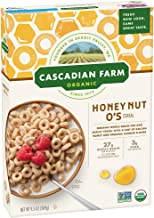 Cascadian Farm Organic Cereal, Honey Nut O's, 9.5 oz (Pack of 12)