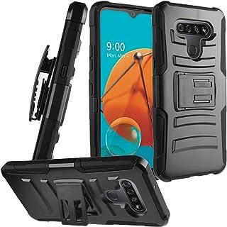 CELZEN - for LG K51, LG Reflect (LM-K500) - Hybrid Phone Case w/Stand/Belt Clip Holster - CV1 Black