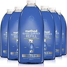 Method Glass Cleaner Refill, Mint, 68 Ounce (Pack 6)
