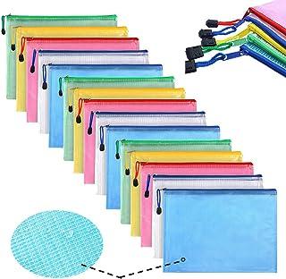 Chemise à dossier Pochette Document, grille sac A4 en plastique, classeur PVC étanche, 5 couleurs (15)