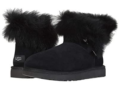 UGG Classic Fluff Pin Mini (Black) Women