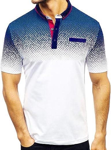 Moda Camisa Casual,Camiseta Hombre Basica,Camisa De Manga ...