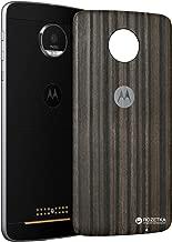 Back Cover Battery Door Case for Motorola Moto Z XT1650 & Z Play XT1635 & Z Force - Charcoal Ashwood (Renewed)