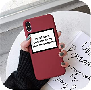 Social Media Seriously Harms Your Mental Health Soft TPU Cover Phone Case for iPhone 7 X Xs Xr Xsma 11 11Pro Case Cover-Rhsr-9947-For iPhone X
