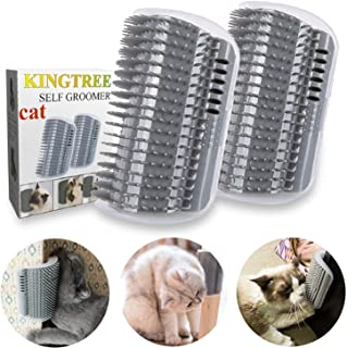 Kingtree Cat Self Groomer, 2 Pack Cats Corner Groomer Wall Corner Massage Comb Grooming Brush Perfect Massager Tool for Lo...