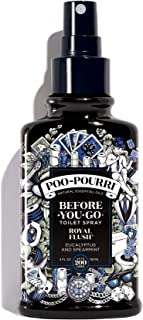 Poo-Pourri Royal Flush Custom Toilet Spray Bottle, Black, 4-Ounce