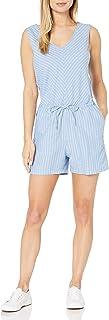 Amazon Essentials Women's Sleeveless Linen Romper