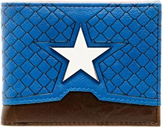 Official Marvel Captain America Suit Up Bi-fold Wallet with Metal Badge