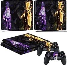 EBTY-Dreams Inc. - Sony Playstation 4 Slim (PS4 Slim) - Uzumaki Naruto Anime Uchiha Sasuke Bijuu Susanoo Kurama Vinyl Skin Sticker Decal Protector