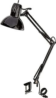 "Globe Electric 56963 Swing Arm Multi-Joint Desk Lamp, 31.5"", Black Metal Clamp"