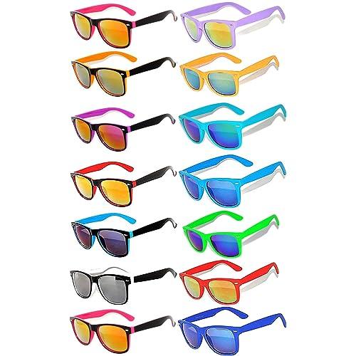 5d69a67e49 Retro Vintage Two -Tone Sunglasses Mirror and Smoke Lens Yellow