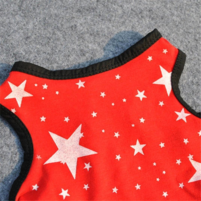 Pet Tutu Princess Dress Star Print Puppy Skirt T-Shirt Small Dog Apparel Axchongery Dog Dress