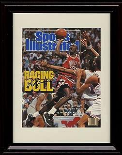 Framed Michael Jordan Sports Illustrated Autograph Replica Print - Chicago Bulls - Raging Bull