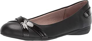 حذاء باليه مسطح من LifeStride للسيدات، أسود