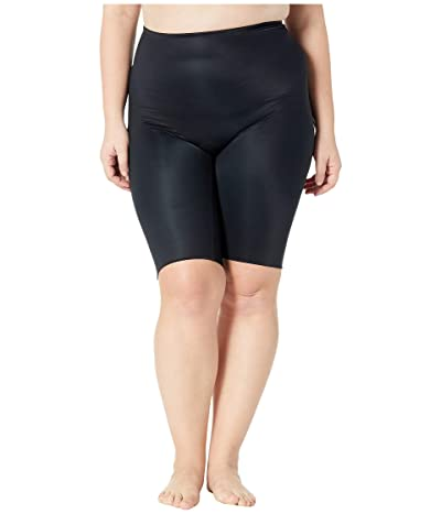 Spanx Plus Size Power Conceal-Her Extended Length Shorts (Very Black) Women