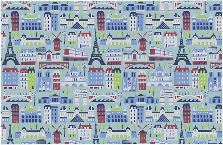Kess InHouse Allison Beilke J'Adore Paris  France Pattern Pet Bowl Placemat, Feeding Mat, 24 by 15