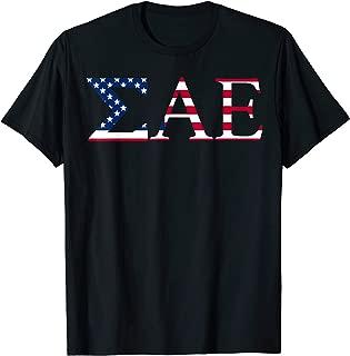 Sigma Alpha Epsilon SAE Fraternity America USA Flag Shirt