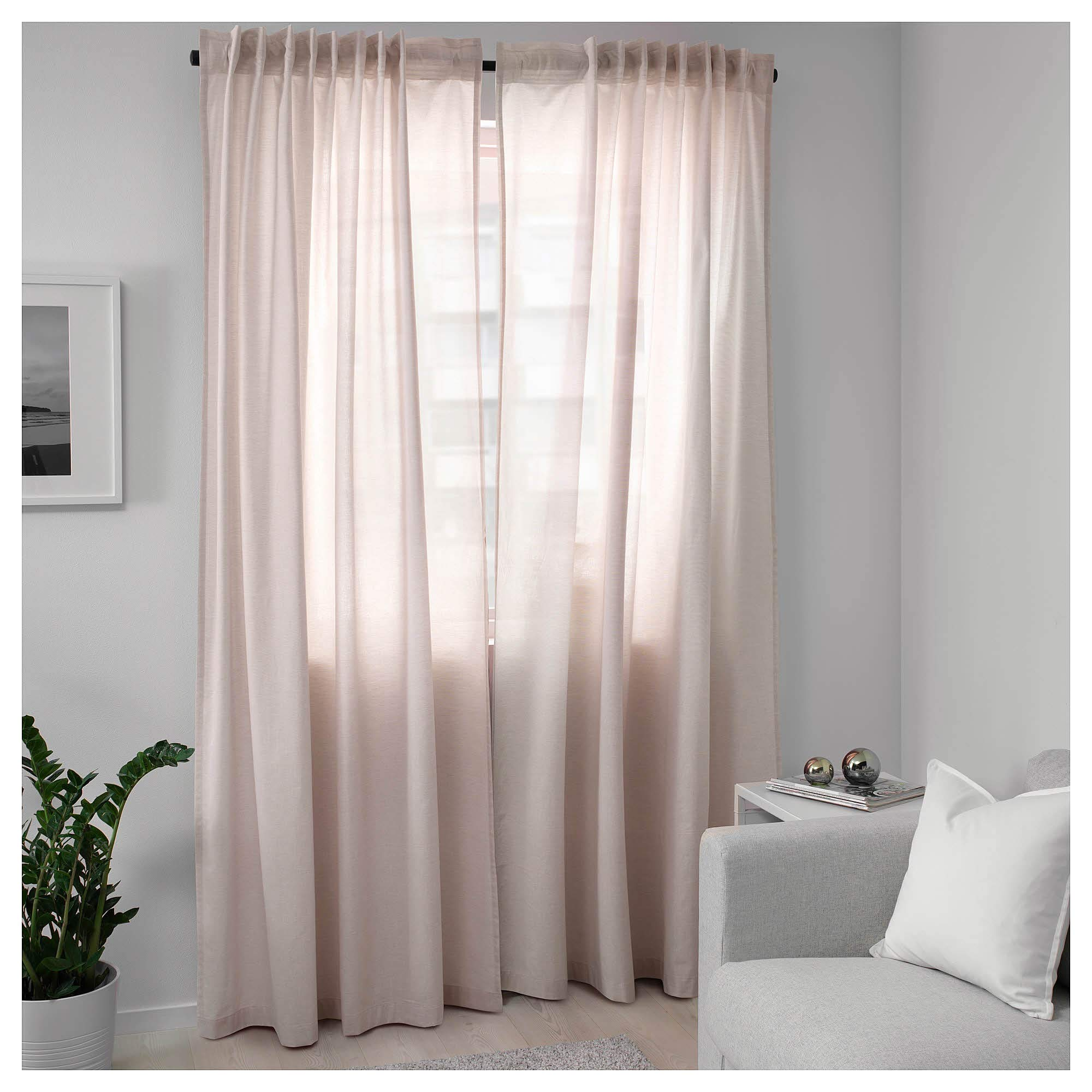 IKEA ASIA HANNALILL - Cortinas (1 par), Color Rosa: Amazon.es: Hogar