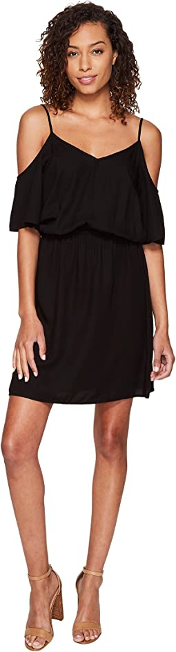 Splendid - Rayon Crosshatch Cold Shoulder Dress