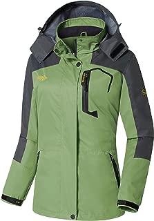 Wantdo Women's Spring Jacket Windproof Rain Coat Hooded Hiking Windbreaker