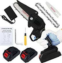 BLAZOR Mini Chainsaw, Cordless Chainsaw Electric with 2 Rechargeable Battery Handheld Pruning Shears for Tree Branch , Gar...