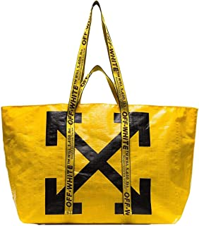 Luxury Fashion | Off-White Womens OWNA094E19F591106010 Yellow Tote | Fall Winter 19
