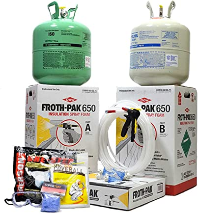 Dow Froth Pak 650, Spray Foam Insulation Kit, Class A fire Rated, Closed