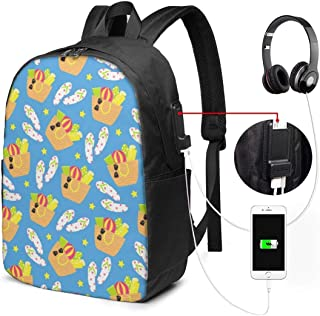 Mochila con Interfaz USB Unisex Backpack with USB Charging Port Summer Beach Background Classic Fashion General Business Bookbag