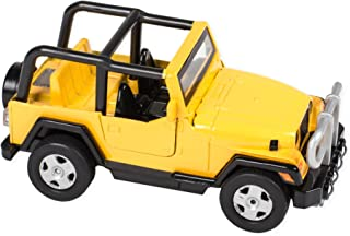 Light and Sound Power Pullback Action Jeep 5 Inch Toy, Yellow