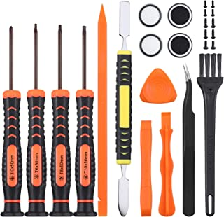 Cleaning Repair Kit for PS4 PS3 PS5 Xbox one/360, JOREST 25pcs Tool Kit with Crowbars, Tweezers, Brush, Grip Caps, Screws,...