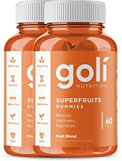 SUPERFRUITS Vitamin Gummy by Goli Nutrition - 2 Pack 120 count - with collagen-enhancing...