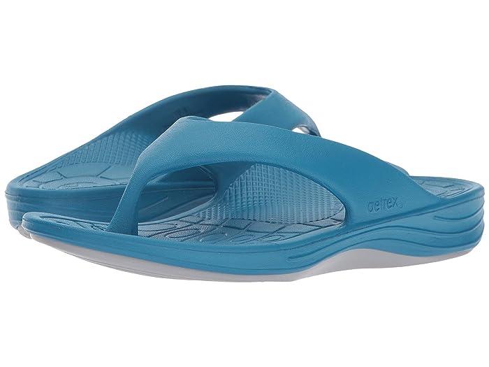 Aetrex  Lynco Flip (Blue) Womens Sandals