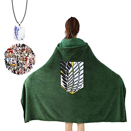 Attack on Titan Blanket Cloak Shingeki Survey Corps Cloak Flannel Cape//.