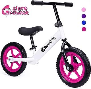Gostorechoice Kids Balance Bike for Boys & Girls 1-5 Years Old No Pedal Learn to Ride Pre Bike W/EVA Wheels Adjustable Seat