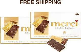 Merci Chocolate Tablets- COFFEE-CREAM 2 x 100 g, Merci/Germany