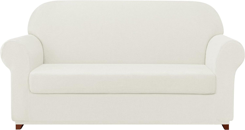 subrtex Rapid rise Sofa Cover 2 Piece Soft Couch Stretch supreme Slipcover Sli