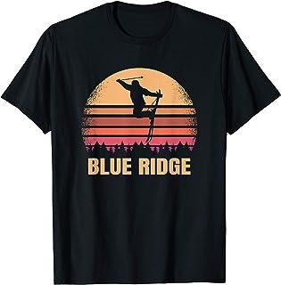 Blue Ridge Georgia Skier Vintage GA Skiing At 80s Ski Resort T-Shirt