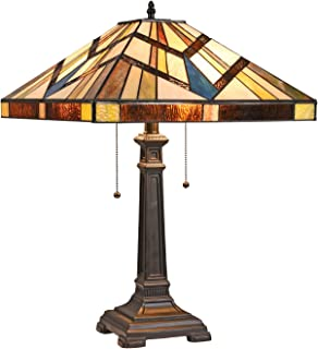 Amazon Com Table Lamps Square Tiffany Table Lamps Lamps Shades Tools Home Improvement