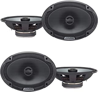 Alpine Type-E 6 x 9 Inch 300W Coaxial 2-Way Car Audio Speakers SPE-6090 (4 Pack)