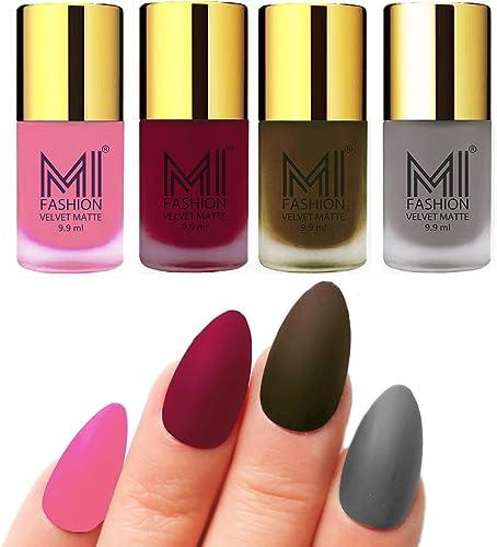 MI FASHION Matte Nail Polish Assorted (Pack of 4) product image
