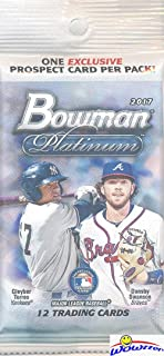2017 Bowman Platinum Baseball EXCLUSIVE JUMBO FAT Factory Sealed PACK with BLUE PROSPECT Card! Look for Rookies & Autographs of Aaron Judge, Cody Bellinger, Andrew Benintendi & Many More!