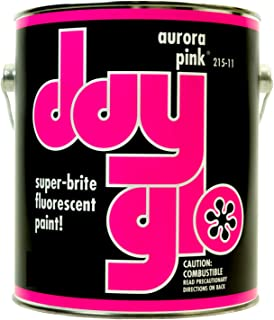 DayGlo Fluorescent Solvent-Based 215 Series Brushing Enamel Paint (Quart, Aurora Pink, 215-11)